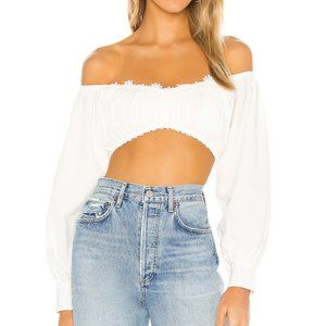 superdown Tamsyn Crop Top in White NWT